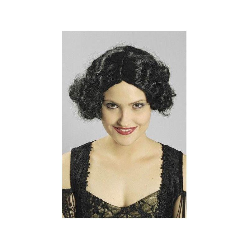Perruque Aimée années 30 noire Accessoires de fête 11270101