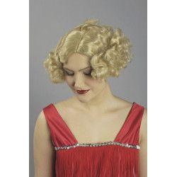 Perruque Aimée années 30 blonde Accessoires de fête 11270115