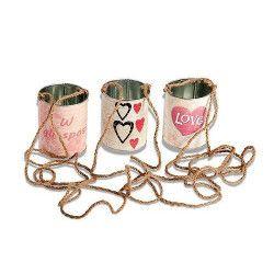 Lot 3 boites conserve mariage avec cordon Déco festive 6628