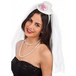 Coiffe mariée avec chapeau et voile Accessoires de fête 6635