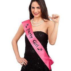 Echarpe rose Party girl Accessoires de fête 6657