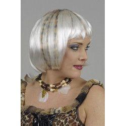 Perruque Léo blanche avec mèches Accessoires de fête 11271199