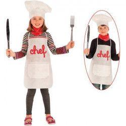 Déguisements, Set déguisement cuisinier enfant, 6665, 9,90€