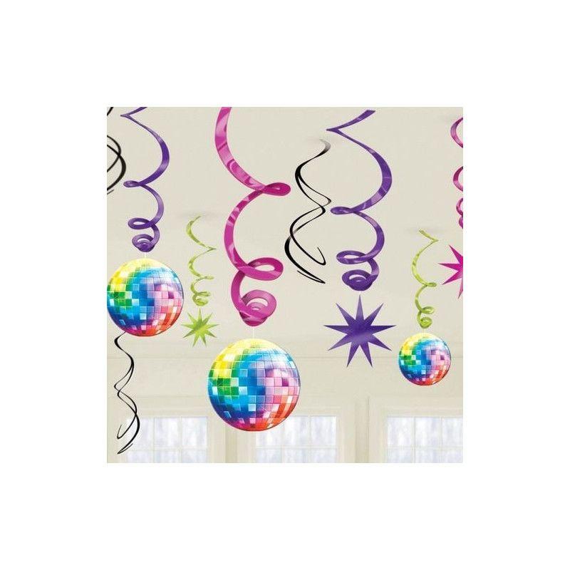 Décorations Disco Fever 70's à suspendre Déco festive 670145