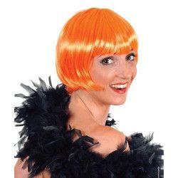 Accessoires de fête, Perruque cabaret orange adulte, 67036, 4,90€