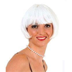 Perruque cabaret blanche adulte Accessoires de fête 67050