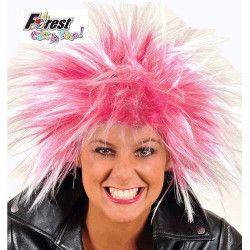 Perruque Punk rose Accessoires de fête 67128