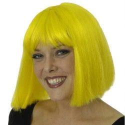 Accessoires de fête, Perruque Coco jaune, 11273208, 16,90€