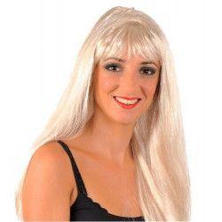 Perruque lisse blonde Accessoires de fête 67180