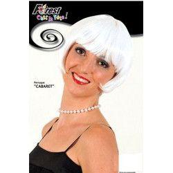 Accessoires de fête, Perruque cabaret blanche, 67296, 4,90€