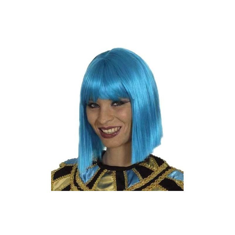 Accessoires de fête, Perruque Coco turquoise, 11273210, 16,90€