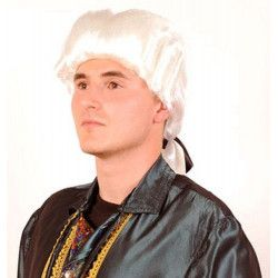 Perruque blanche marquis adulte Accessoires de fête 67395