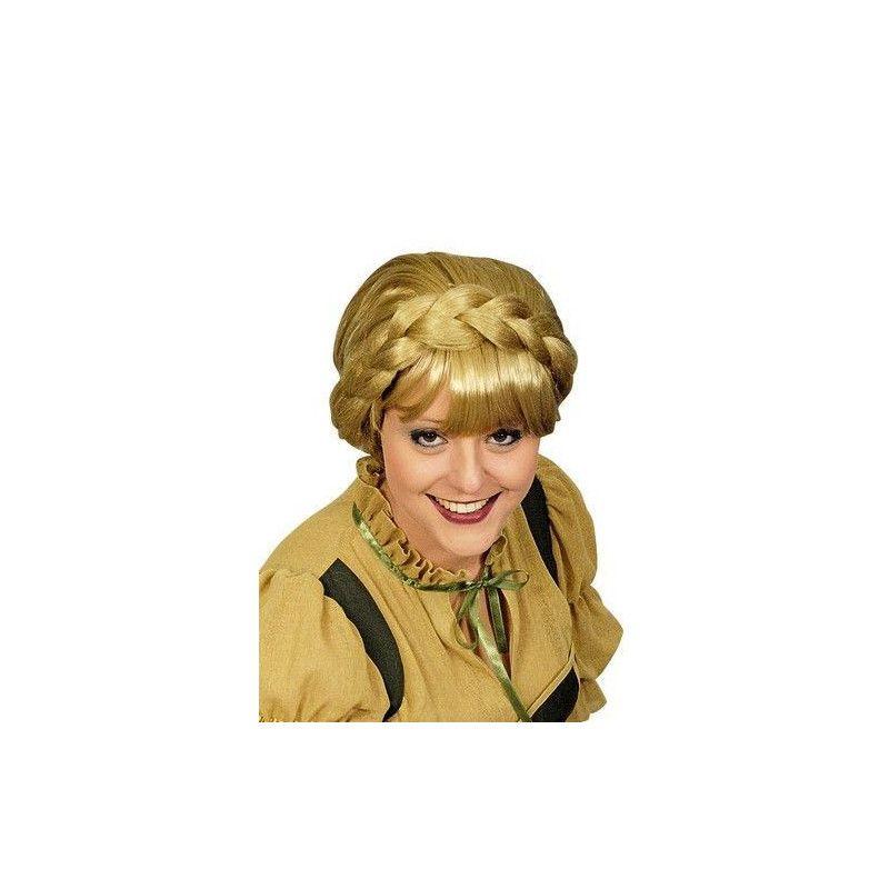Perruque blonde avec tresse Accessoires de fête 11273315