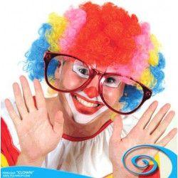 Perruque clown multicolore luxe Accessoires de fête 67579