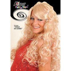 Perruque tenue soirée blonde Accessoires de fête 67999