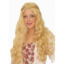 Perruque médiévale blonde Accessoires de fête 11275215