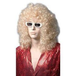 Perruque blonde Michel longue et frisée Accessoires de fête 69000