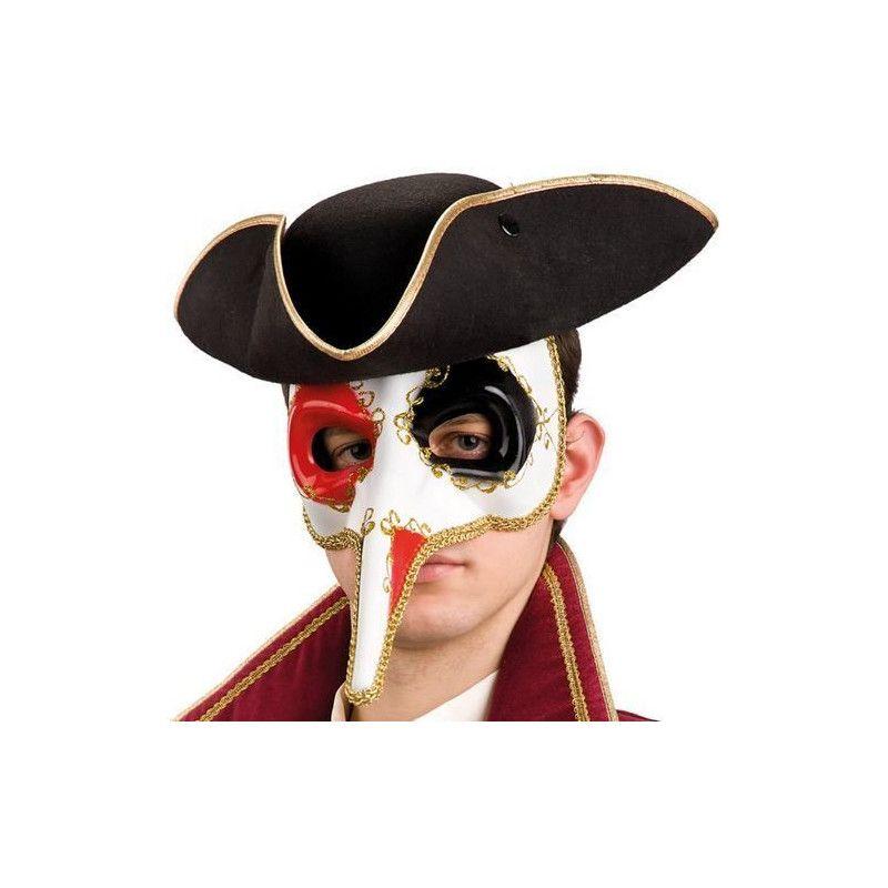 Accessoires de fête, Masque de Venise avec long nez adulte., 695, 7,90€