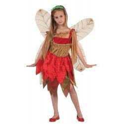 Déguisement fée de l'automne rouge fille 7-9 ans Déguisements 6962