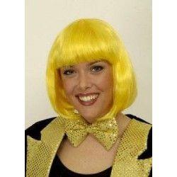Accessoires de fête, Perruque jaune fluo, 11276908, 14,40€