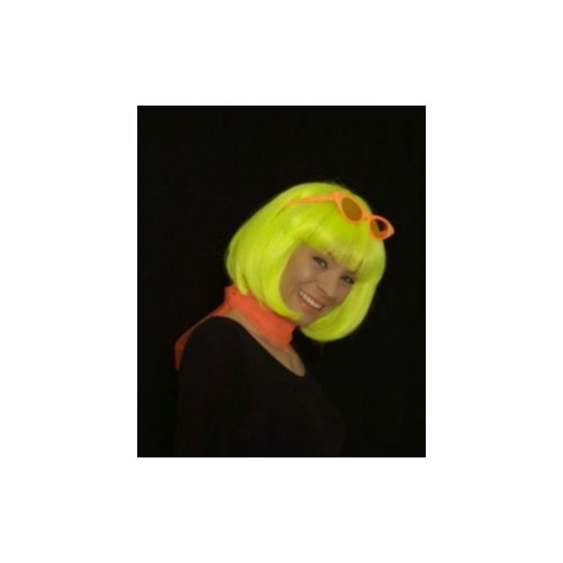 Perruque néon vert UV Accessoires de fête 11276925