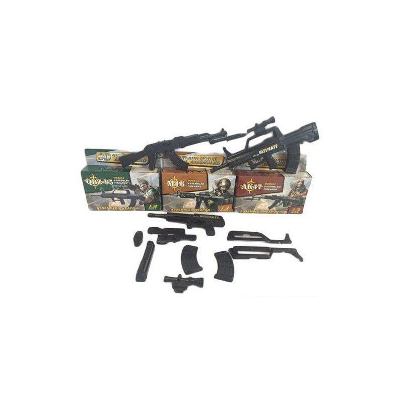 Pistolet M16 à assembler Jouets et kermesse 6999