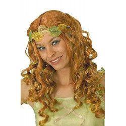 Perruque fée rousse irisée mèches vert/jaune Accessoires de fête 11277344