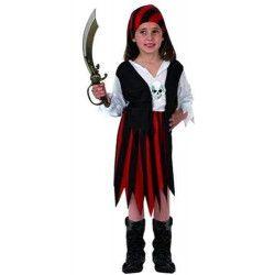 Déguisement pirate rouge et noir fille 7-9 ans Déguisements 70106