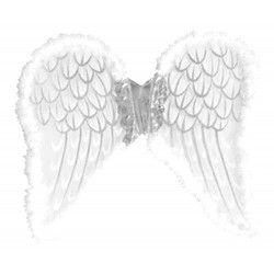 Accessoires de fête, Ailes d'anges blanches avec marabout, 70118, 11,90€