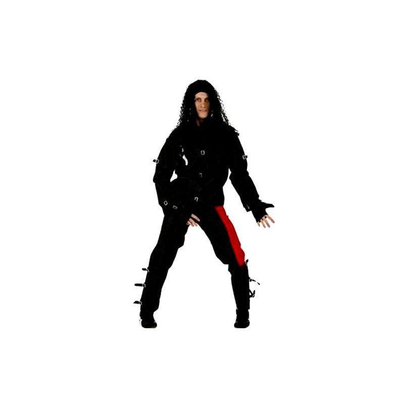 Déguisements, Costume Mickael noir adulte S, 70363, 19,90€