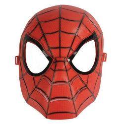 Masque plastique rouge homme araignée Accessoires de fête 70644
