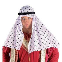 Coiffe Sheikh noire et blanche Accessoires de fête 70939