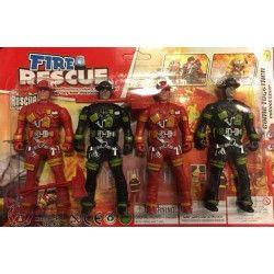 Blister 4 figurines pompiers Jouets et articles kermesse 7095