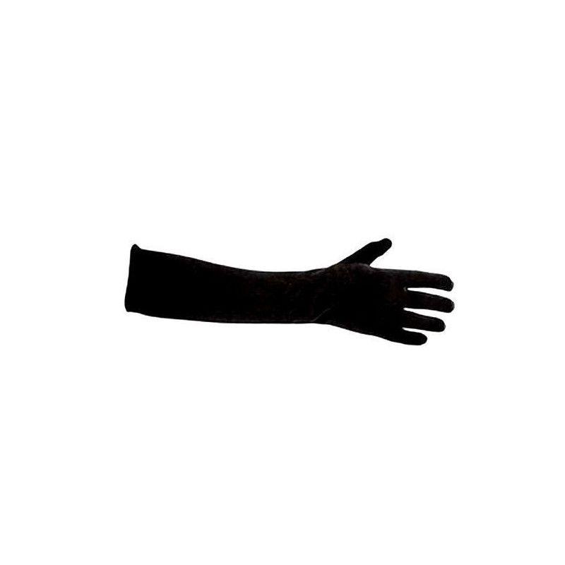 Gants noirs velours longueur 45 cm Accessoires de fête 70986