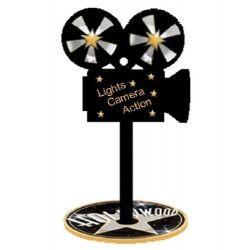 Caméra en bois de décoration x 3 Déco festive 71001