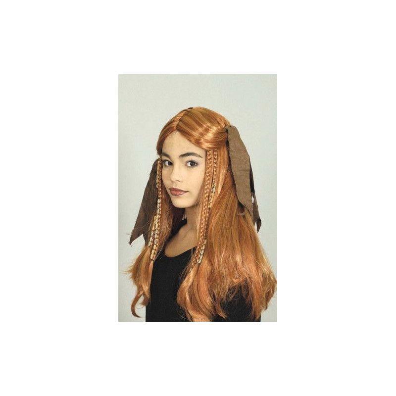 Accessoires de fête, Perruque rousse avec ruban, 11279743, 14,90€
