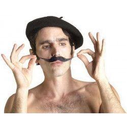 Moustache noire d'artiste Accessoires de fête 71715