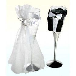 Coupes à champagne pour mariés Déco festive 719161