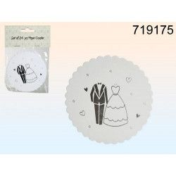 Dessous de verre en papier blanc mariage Déco festive 719175