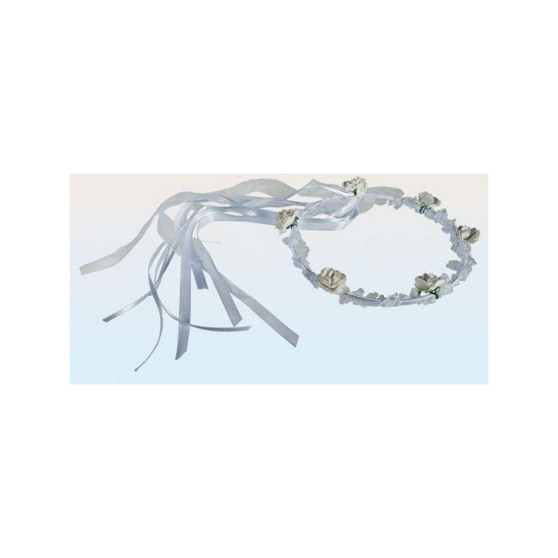 Déco festive, Serre-tête blanc de mariage avec fleurs, 719186, 2,90€