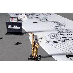 Chemin de table musique Déco festive 72004