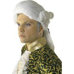 Perruque roi avec queue de cheval et noeud Accessoires de fête 72184
