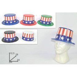 Accessoires de fête, Chapeau haut de forme USA, 72254, 2,00€