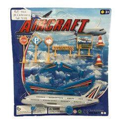 Jouets et kermesse, Avion de ligne avec accessoires, 7323, 1,00€