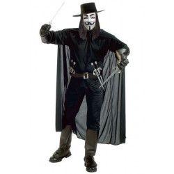 Déguisement Anonymous noir avec épées homme taille L Déguisements 73613