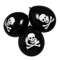 Sachet 6 ballons pirate 25 cm Déco festive 74164