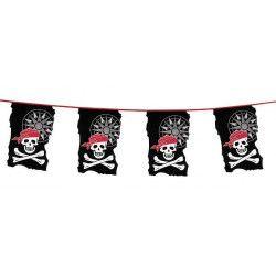 Déco festive, Guirlande fanions pirate 10 m, 74183, 5,90€