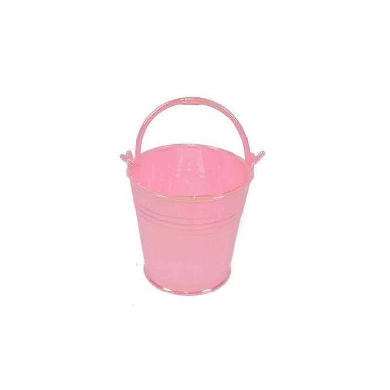 Lot de 3 mini seaux à dragées en plastique rose Cake Design 74804