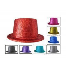 Chapeau haut de forme paillettes Accessoires de fête 75055