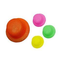 Accessoires de fête, Chapeau melon fluo UV réfléchissant, 75062, 1,30€